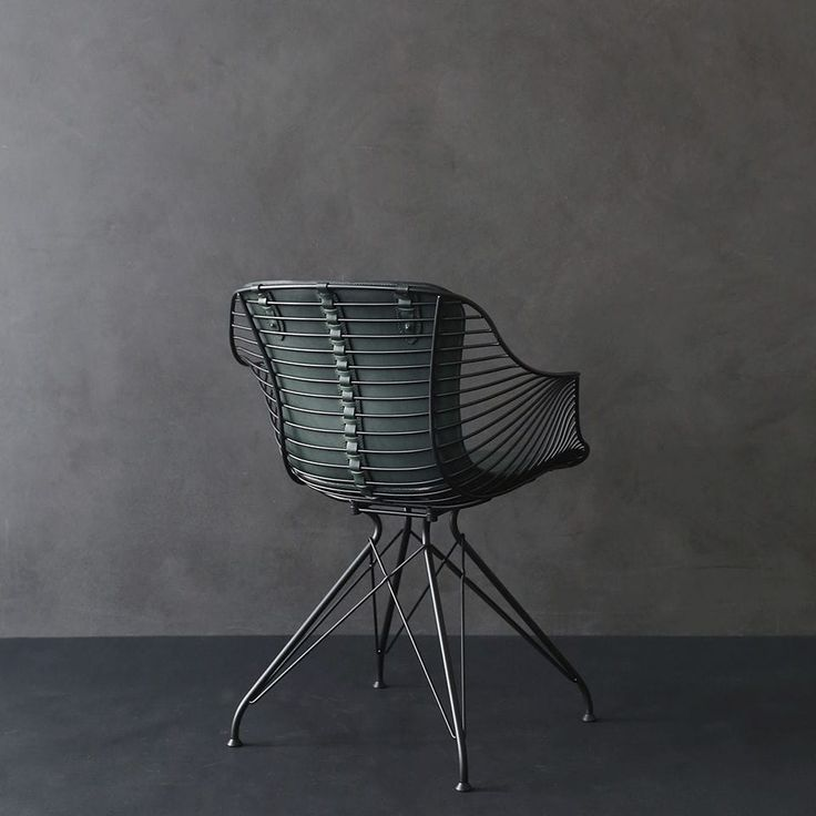 Contemporary chair / upholstered / with armrests / metal wire - WIRE DINING - OVERGAARD & DYRMAN