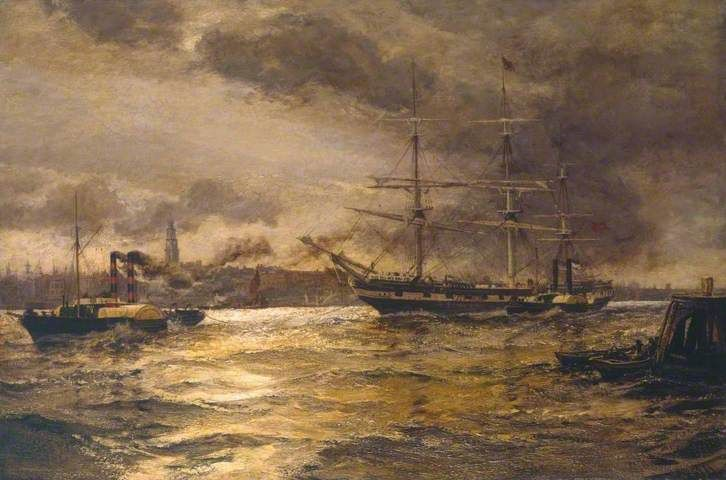 London River - Charles Napier Hemy