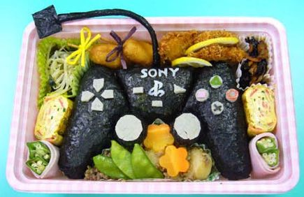 Play station bento: Bento Lunches, Bento Boxes, Kids Lunches, Videos Games, Lunches Boxes, Boxes Art, Plays Stations, Food Art, Foodart