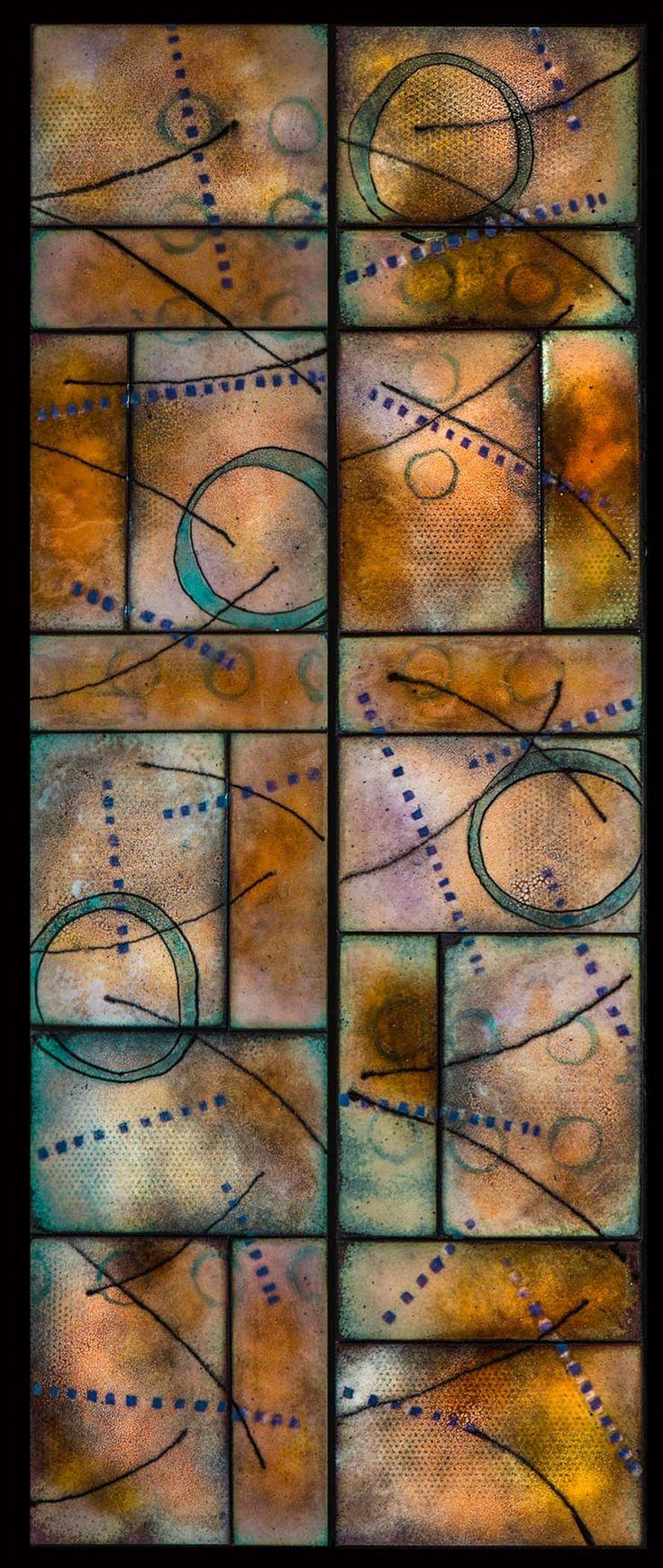 """12""""x30"""" enamel on copper by Britt Densford"""