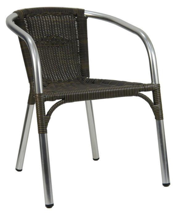San Remo Aluminium Rattan Cafe Chair