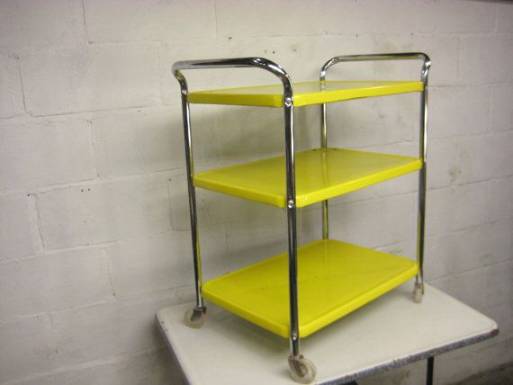for pete kitchen cart vintage rolling kitchen cart cosco yellow