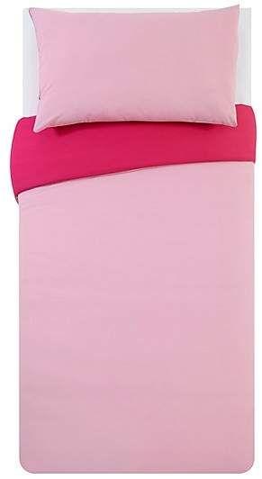 George Home Reversible Pink Duvet Cover #afflink