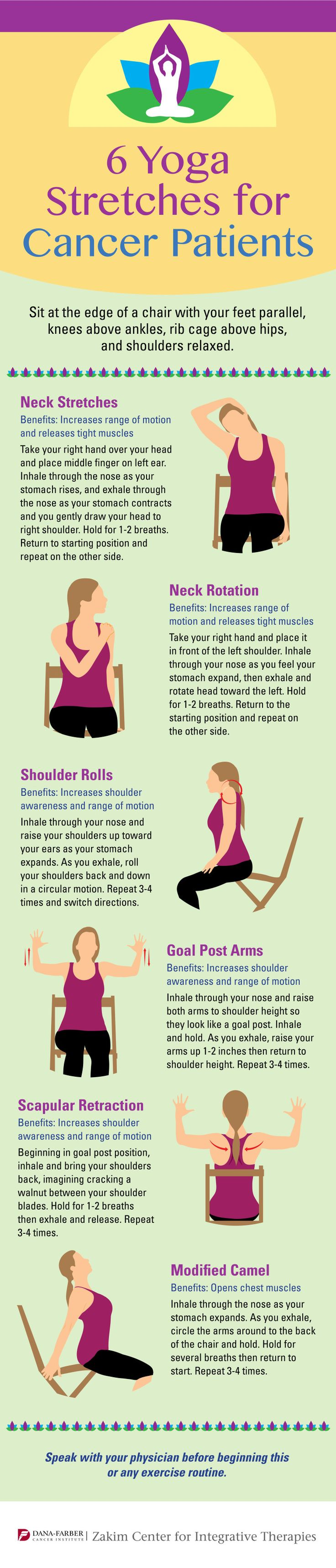 6 Yoga Stretches for Cancer Patients