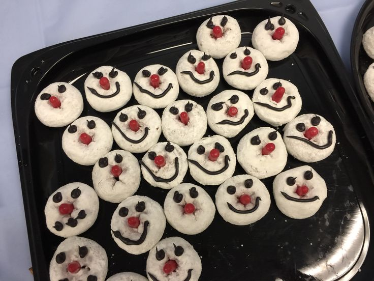 Winter reading club snowman doughnuts