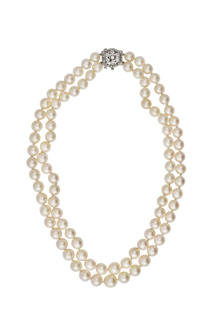 Find This Pin And More On Formal Jewelry For Rent Infused With Vintage  Appeal, You Will Love Haute Vault's Double Strand Cultured Pearl