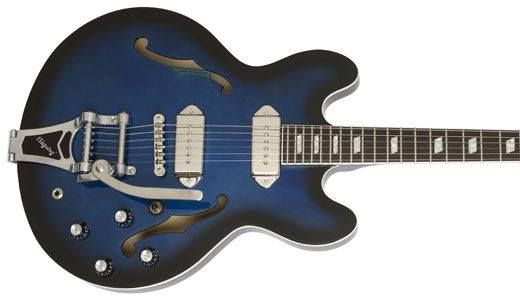 midnight blue Gary Clark Junior signature Epiphone with twin P-90s and Bigsby! SWEET!