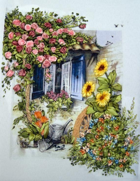 Cotton & Ribbon embroidery ideas