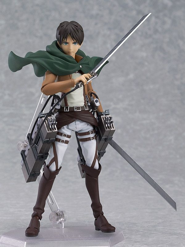 The hero of one of the most popular anime series of recent times is finally available in figma form. Eren Yeager, the protagonist of Attack on Titan, may be a little hard-headed, but he's fiercely loyal to his friends and passionate in his desire to protect the human population from the ravages of the Titans which are destroying his world. Like all figmas, this is a highly poseable figure that com...