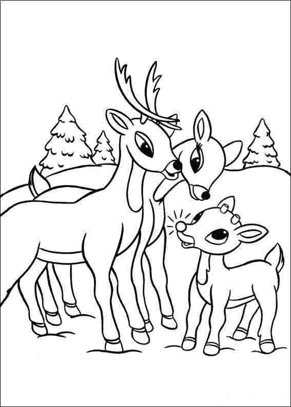 Malvorlagen Rudolph die rote Nase Rentier rudolph mit der ...