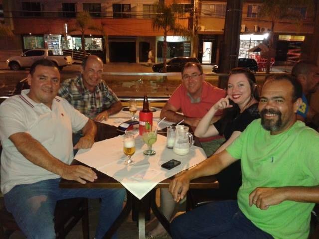 17/10/2014 - Blumenau, SC - confraternização com Lúcio André, Murilo, Adilson, Taisa e Querubim.
