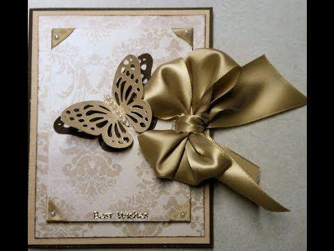 ▶ Wedding or Special Occasion Elegant Handmade Card - YouTube