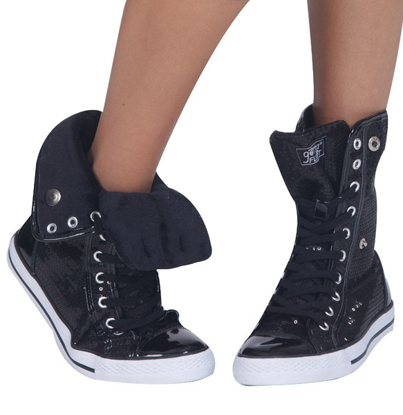 Adult Hi-Top Sequin Fur Sneaker   Hip hop, Dance in and Shoes