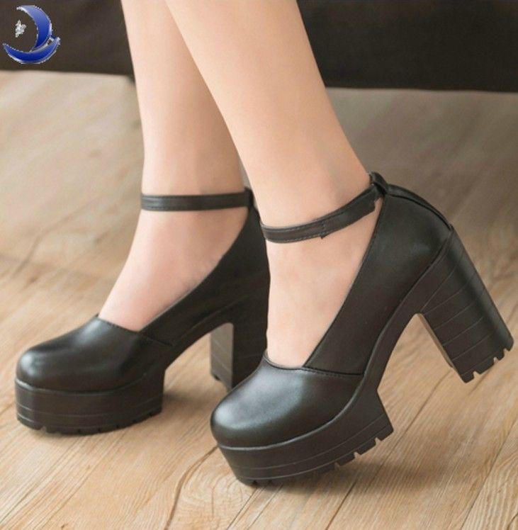 Stylish Chunky Heel Platform Shoes