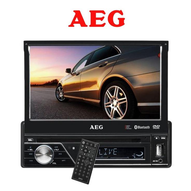 """Bilstereo – multifunksjons bilstereo med 7"""" LCD-monitor fra AEG"""