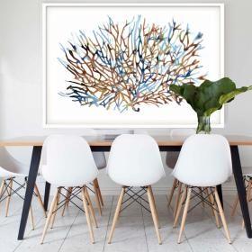 Coral Water | Framed Art | Hoxton Art House