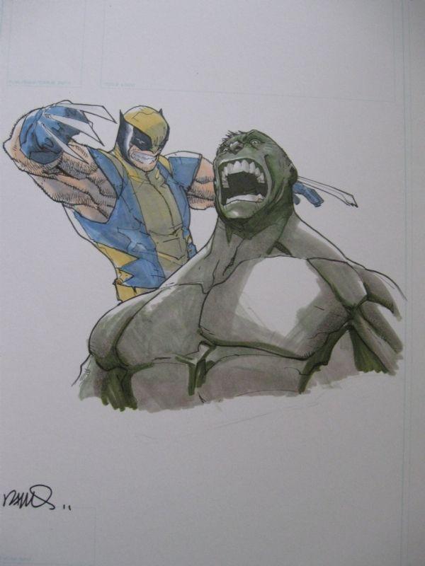 Wolverine Vs Hulk by Humberto Ramos