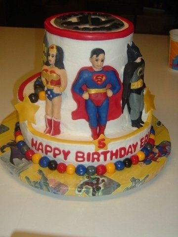 Justice League Cake By GRAMMASUE on CakeCentral.com