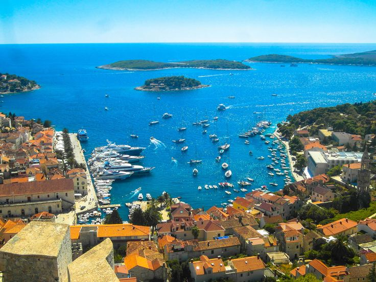 A 20 minutes up the hill right form Hvar harbor there is a fortress (citadel) where you can enjoy this amazing view.