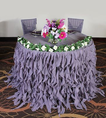 Lets Do Linens   Tablecloth Linen Rentals NJ PA MD   Waterfall Celebration Table