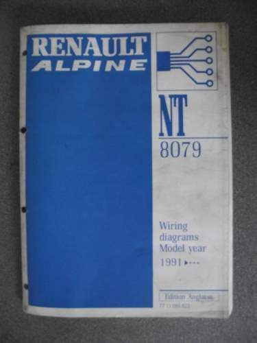 Renault Alpine Wiring Diagrams Manual 1991 7711095823