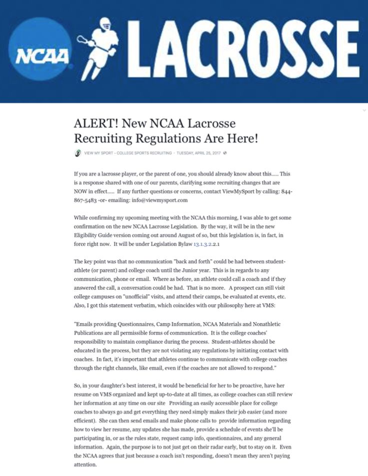 Important to all high school / middle school lacrosse ...