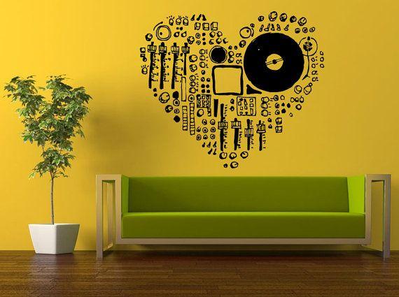 Best Music DJ Wall Stickers Decals Images On Pinterest Wall - Make custom vinyl wall decalsvinyl wall decal sticker paint dripping s wall decals attic