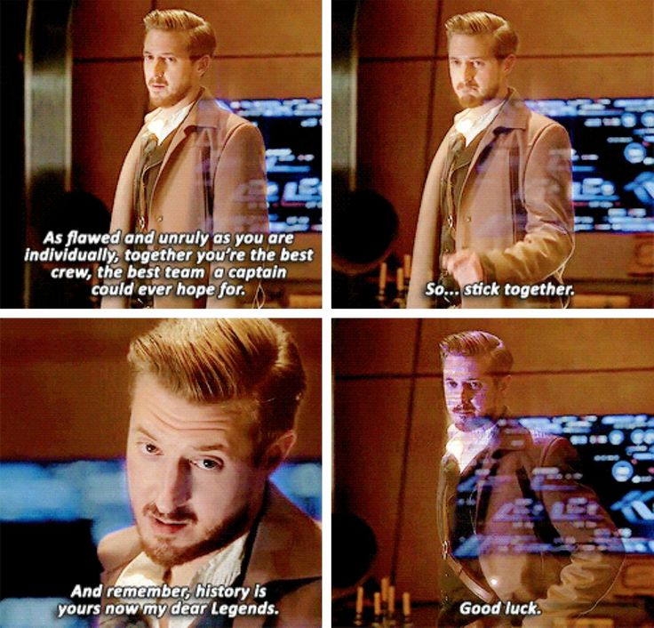 """Stick together. And remember, history is yours now my dear Legends. Good luck"" - Rip Hunter #LegendsOfTomorrow"