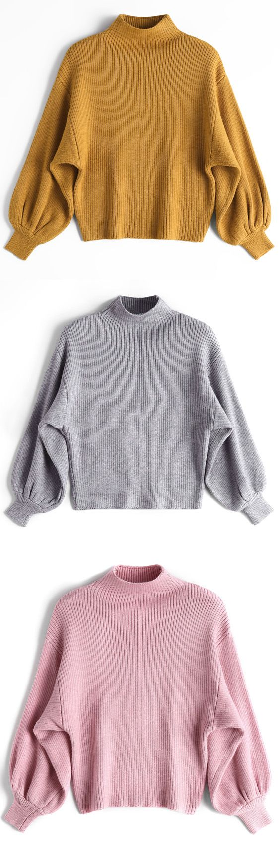 Up to 70% OFF! Lantern Sleeve Mock Neck Sweater. Zaful,zaful.com sweater dress, sweaters&cardigans, sweater,cardigans,choker sweater,chokers,chunky sweater,chunky,cardigans for women, knit, knitted, knitting, knitwear, cardigan, cardigan outfit, women tops, women outfits, blouses, women fashion,winter outfits,winter fashion,fall,fall outfits,fall fashion,autumn outfits,autumn fashion, halloween costumes,halloween,halloween outfits,halloween tops. @zaful Extra 10% OFF Code: ZF2017