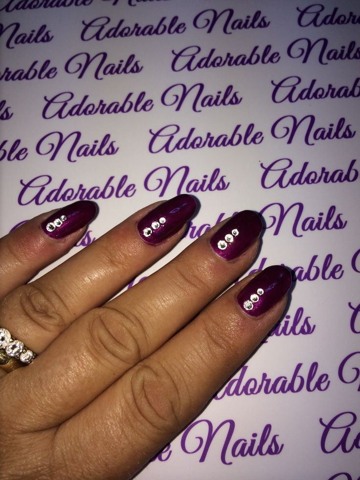 CND shellac in tango passion and crystals.