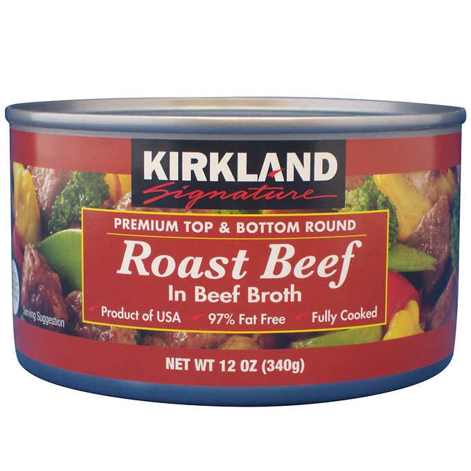 90 Costco Kirkland Signature Roast Beef In Beef Broth 12 Oz 24 Count Interesting Products