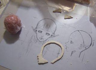 Причудливый художник Лофт: как лепить bjd Кукла голова