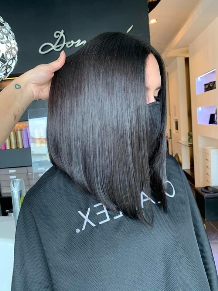 Dark Hair Schwarze Haare Bob Balayage Schwarzes Haar Kurze Schwarze Haare