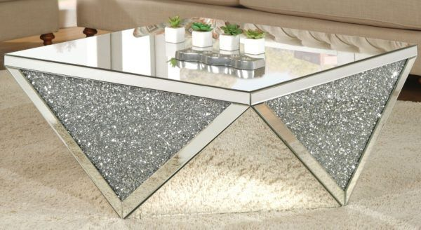 Acme Noralie Coffee Table Mirrored Furniture Plus Coffee