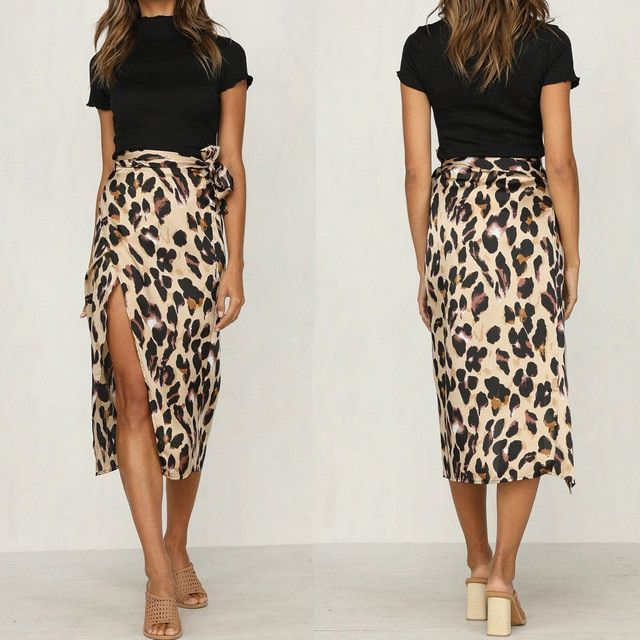 Ladies Womens Gypsy Long Jersey Leopard Printed Bodycon Flared Maxi Dress Skirt