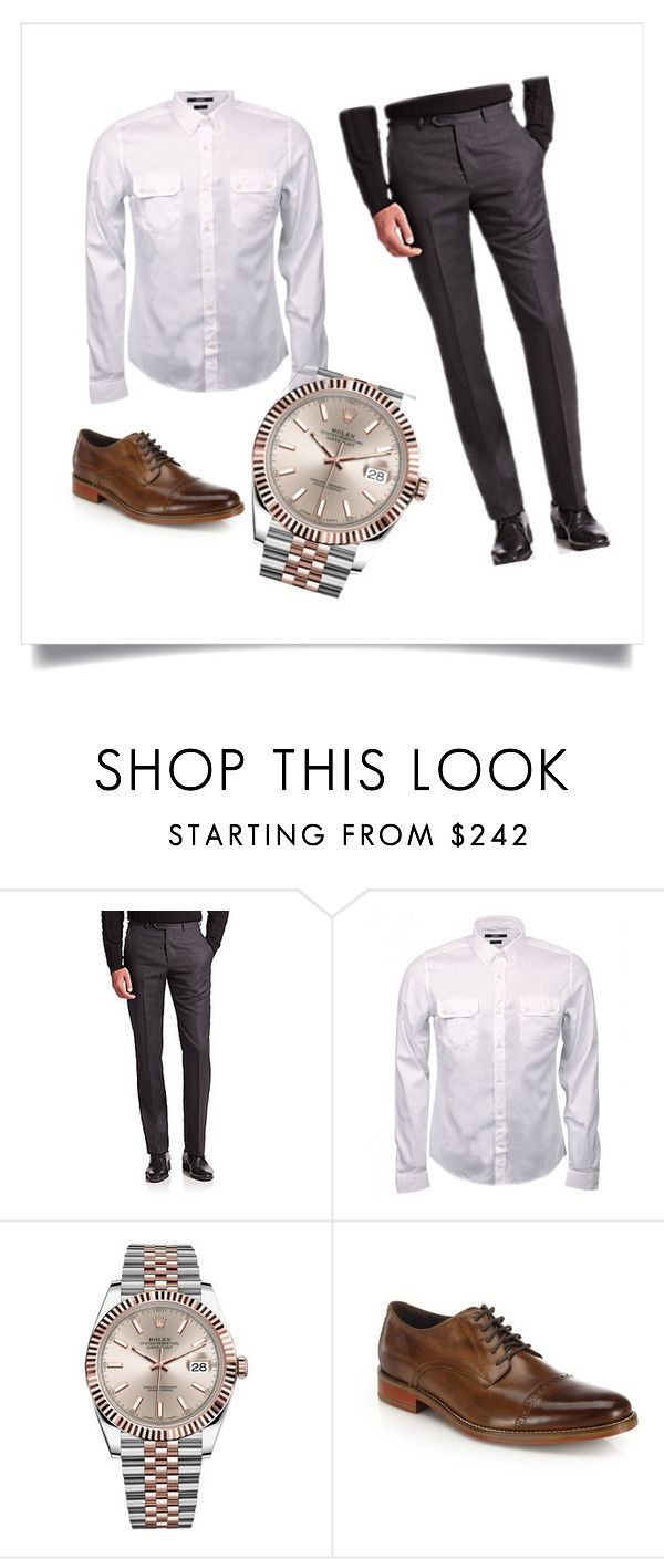 Elegante ma non troppo by francescox on Polyvore featuring Gucci, Giorgio Armani, Cole Haan, Rolex, men's fashion and menswear
