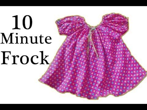 57b3e81930 1year baby frock cutting and stitching full tutorial || diy stylish ...
