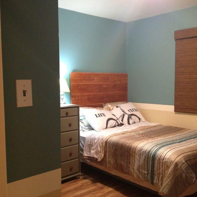 Homemade Headboard Ideas For Boys Headboard New Paint New Floor Boys Room Makeover Home Made