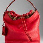 Burberry borse primavera estate 2014 borsa hobo media in pelle con motivo brit check