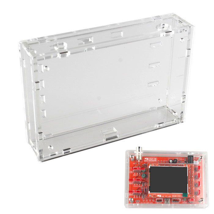 Transparent Acrylic Sheet Housing Case Box Sheet for DSO138 Oscilloscope. Find the cool gadgets at a incredibly low price with worldwide free shipping here. Acrylic Sheet Housing Case for DSO138 Oscilloscope - Transparent, Kits, . Tags: #Electrical #Tools #Arduino #SCM #Supplies #Kits
