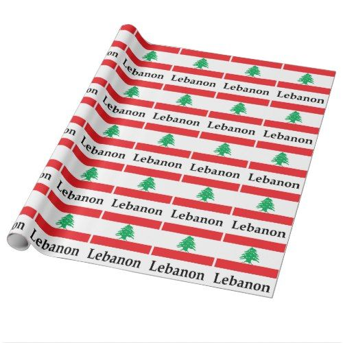 Lebanon Flag And Name Wrapping Paper