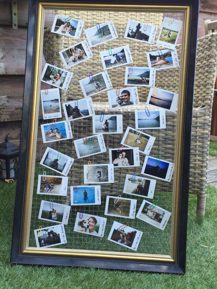 Diy met je polaroidfoto's!  Kader uit de kringloopwinkel, vogeltjesdraad ertegen en hup je foto's erop vast steken en hem een mooi plaatsje in huis geven!  I love oldskool and polaroids! ❤️