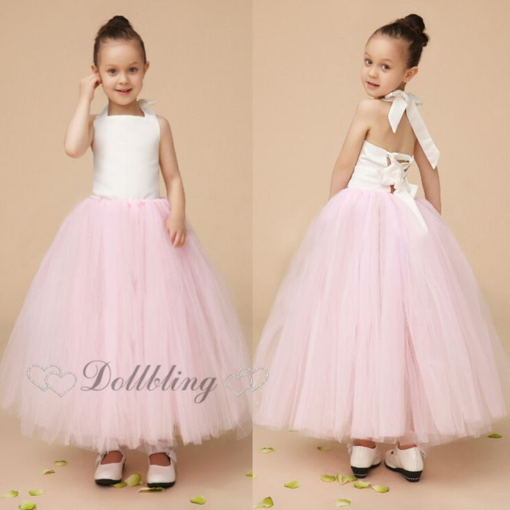 >> Click to Buy << Ellie Bridal Blush Pink Veil Mesh Gorgeous Crinkle cake dress Cute Ballet tutu flower girl wedding dress D1014 #Affiliate