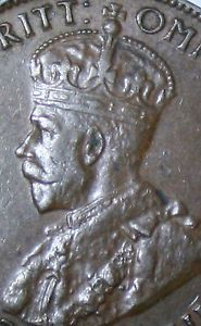 King George V 1934 Australian Half Penny Coin Visible Pearls AND Diamond   eBay
