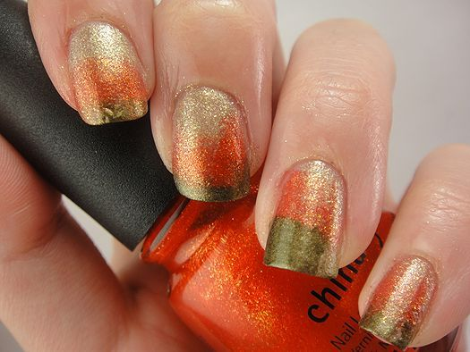 ... : Falling Forward Nail Art Challenge - Day Six: Fall Ombre/Gradient