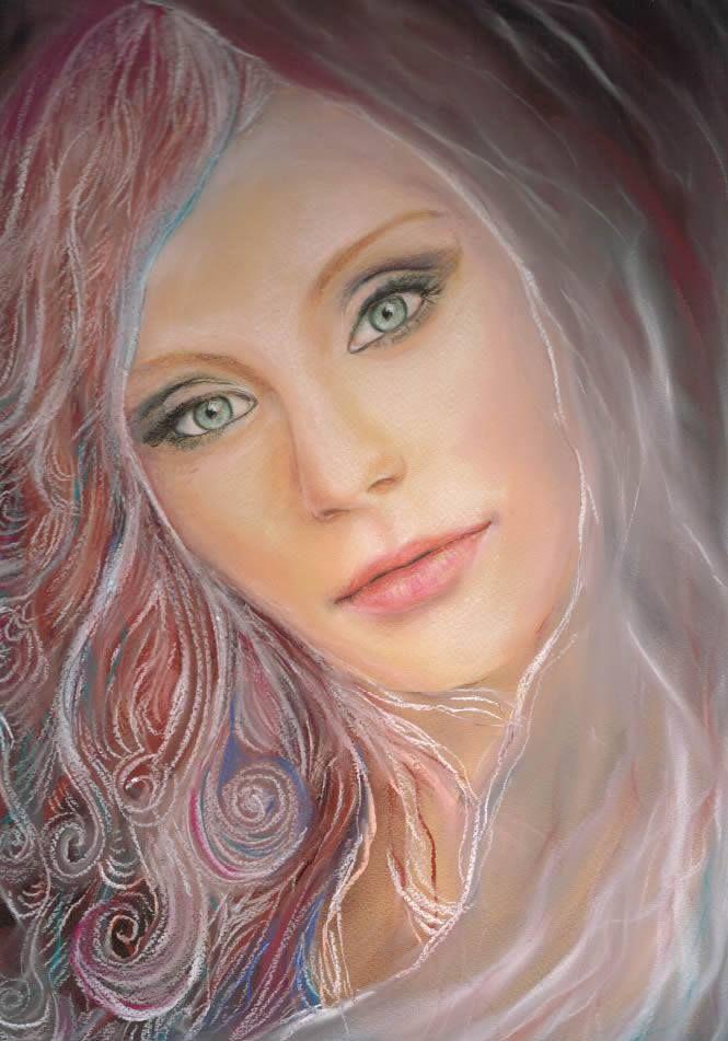 Zsófia Sárhidai: Soft pastel + pastel pencil drawing