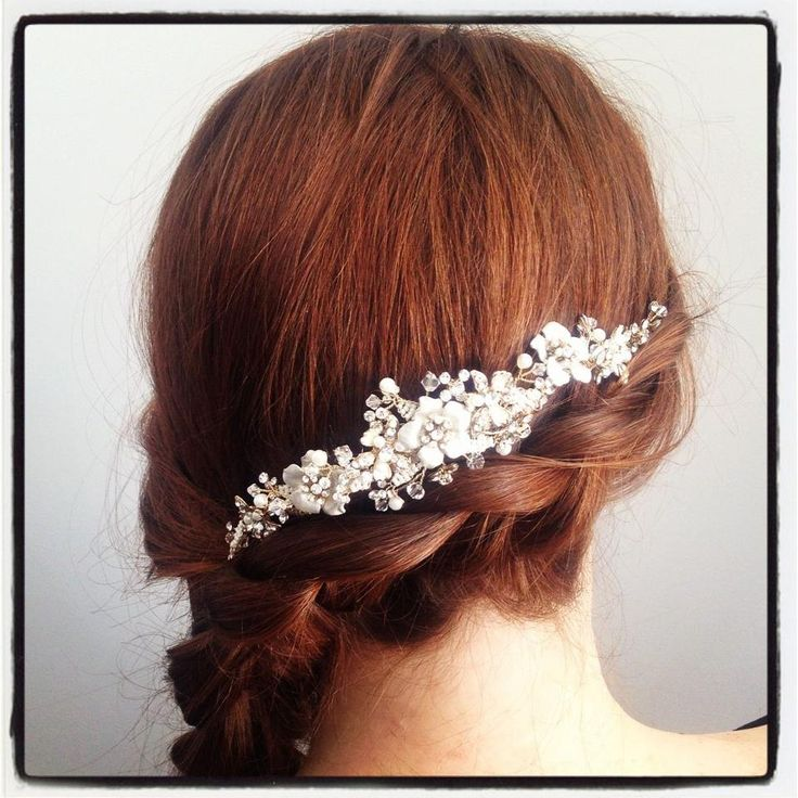 Wrap around, side braid with vine comb from Aeva Couture: Hairstyles event hair, or wedding hairstyle