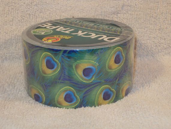 New Peacock Feather Duck Duct Tape  Highly by CreativeCorner333, $6.50