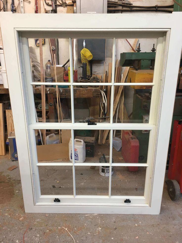 Hardwood sash window