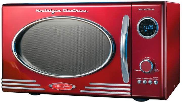 Nostalgia Electrics Retro Red 800 Watt Countertop Microwave Oven